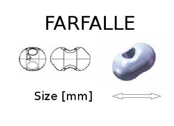 Farfalle Seed Beads - Size