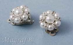 Pearl Clip on Earrings - 06686