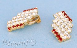 Strass Clip on Earrings - 09505