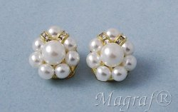 Pearl Clip on Earrings - 17373