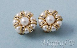 Pearl Clip on Earrings - 17374
