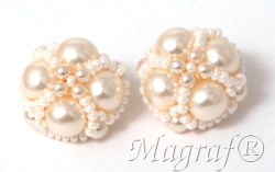 Pearl Clip on Earrings - 22163